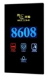 Luxury Hotel Electronic Doorplate ,Touch Doorbell Switch with LED Room Number Display